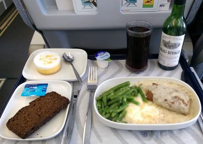 Lunch on AY0666 heading for HEL