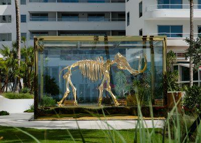 Damien Hirst's golden mammoth at Faena Hotel Miami Beach