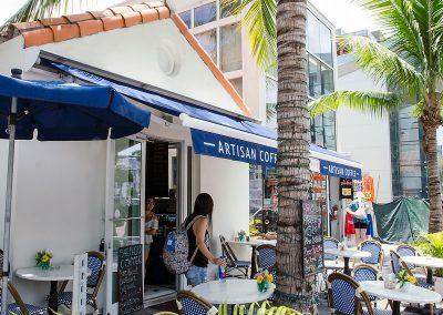 Shepherd Artisan Coffee on Collins Ave, Miami Beach