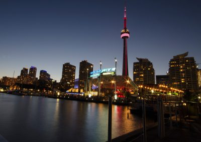 At Night CN Tower from Harbourfront Centre Concert Stage