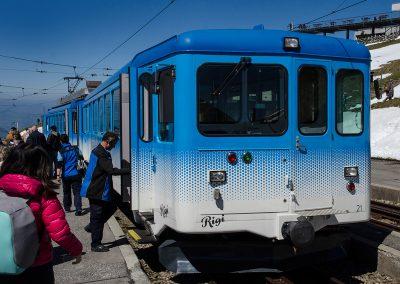 Mount Rigi Mountain Railway - Train from Arth