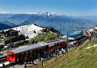 Mount Rigi Mountain Railway - Train from Vitznau