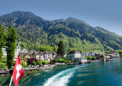 Boat from Vitznau to Lucerne